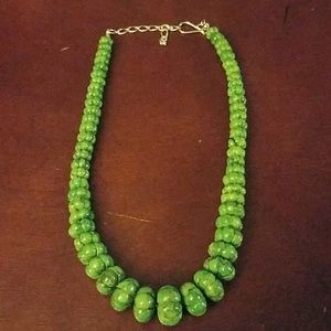 Jay king green carved stone necklace